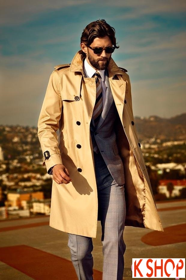 Áo khoác dạ măng tô nam Trench Coat thương hiệu Ý gam màu đặc sắc nổi bật 2017 phần 3