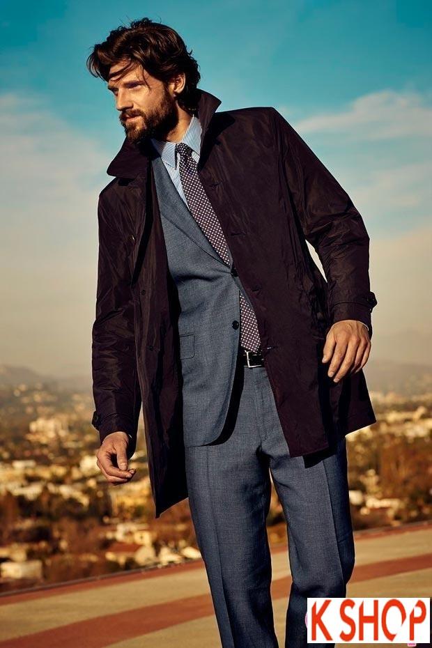 Áo khoác dạ măng tô nam Trench Coat thương hiệu Ý gam màu đặc sắc nổi bật 2017 phần 4