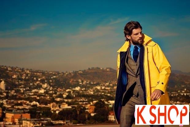 Áo khoác dạ măng tô nam Trench Coat thương hiệu Ý gam màu đặc sắc nổi bật 2017 phần 5