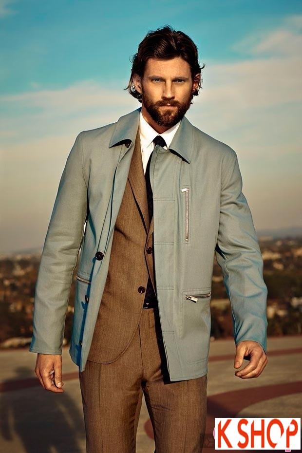Áo khoác dạ măng tô nam Trench Coat thương hiệu Ý gam màu đặc sắc nổi bật 2017 phần 6