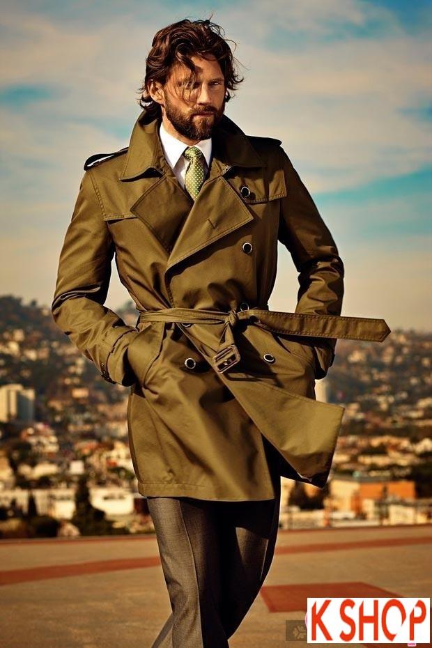Áo khoác dạ măng tô nam Trench Coat thương hiệu Ý gam màu đặc sắc nổi bật 2017 phần 7