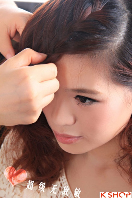 Cách tết tóc mái kiểu Hàn Quốc đẹp dịu dàng năng động năm 2016 phần 10