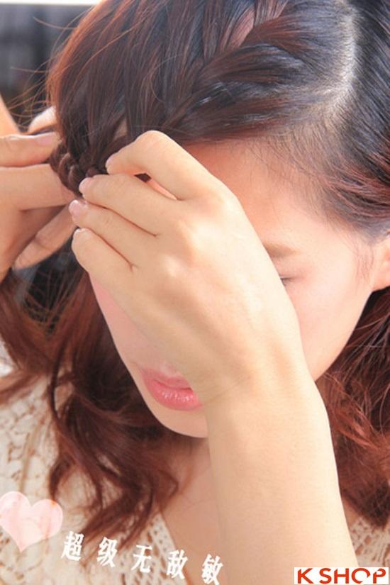 Cách tết tóc mái kiểu Hàn Quốc đẹp dịu dàng năng động năm 2016 phần 11