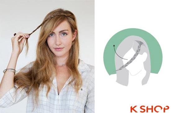 Cách tết tóc mái kiểu Hàn Quốc đẹp dịu dàng năng động năm 2016 phần 3