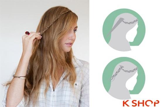 Cách tết tóc mái kiểu Hàn Quốc đẹp dịu dàng năng động năm 2016 phần 4