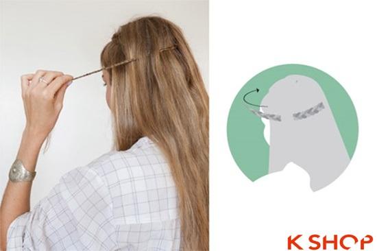 Cách tết tóc mái kiểu Hàn Quốc đẹp dịu dàng năng động năm 2016 phần 5