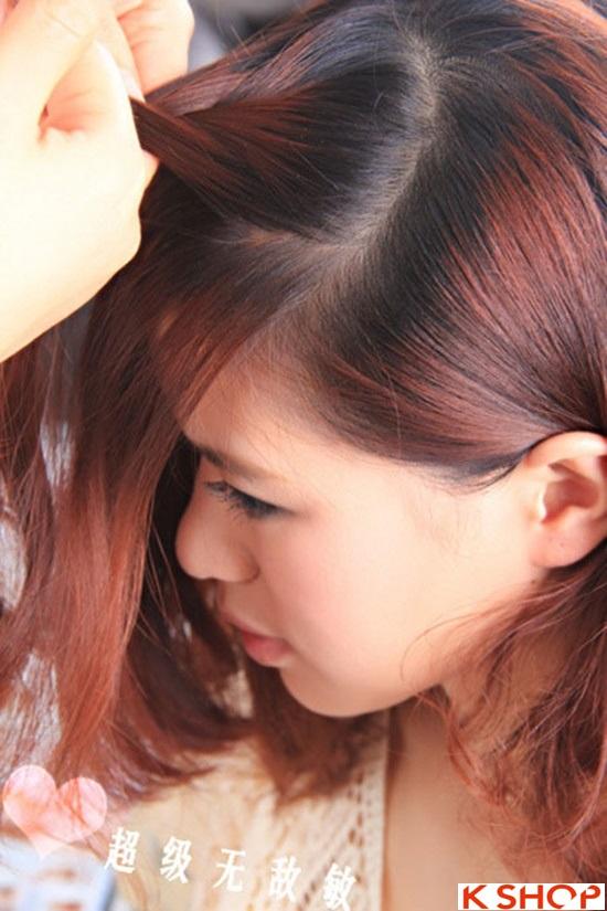 Cách tết tóc mái kiểu Hàn Quốc đẹp dịu dàng năng động năm 2016 phần 8