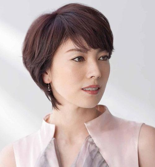 Những kiểu tóc ngắn mái lệch uốn xoăn đẹp Hàn Quốc hot nhất 2017 phần 2