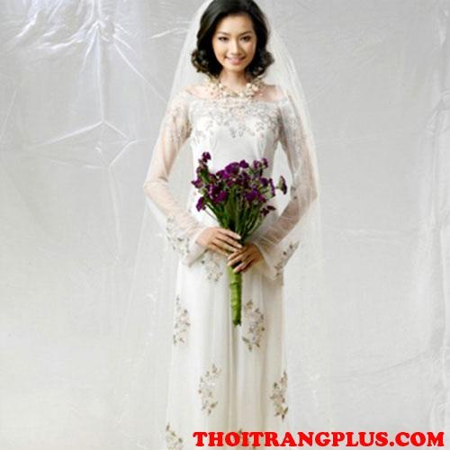 Tóc cô dâu đẹp 2018 phù hợp với áo dài cưới truyền thống Việt Nam phần 3