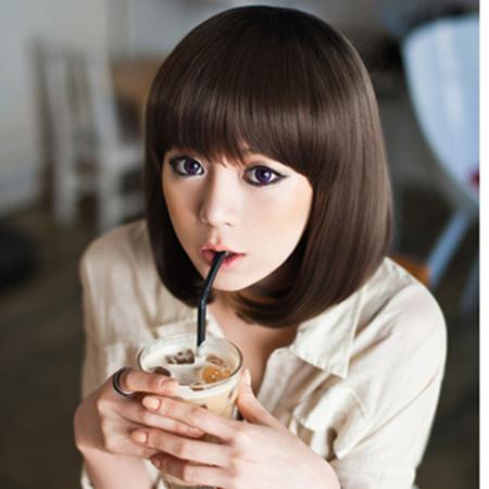 Tóc ngắn duỗi cúp phồng đẹp 2016 kiểu Hàn Quốc cho nàng trẻ trung phần 10