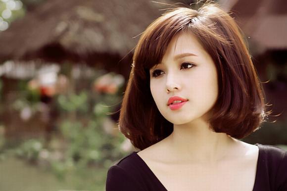 Tóc ngắn duỗi cúp phồng đẹp 2016 kiểu Hàn Quốc cho nàng trẻ trung phần 4