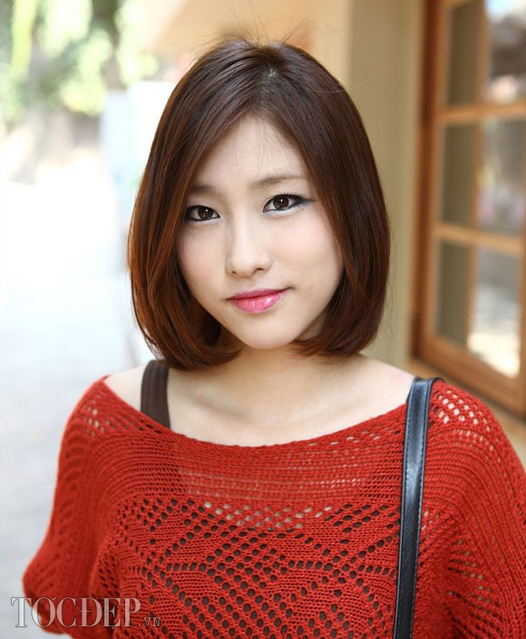 Tóc ngắn duỗi cúp phồng đẹp 2016 kiểu Hàn Quốc cho nàng trẻ trung phần 5