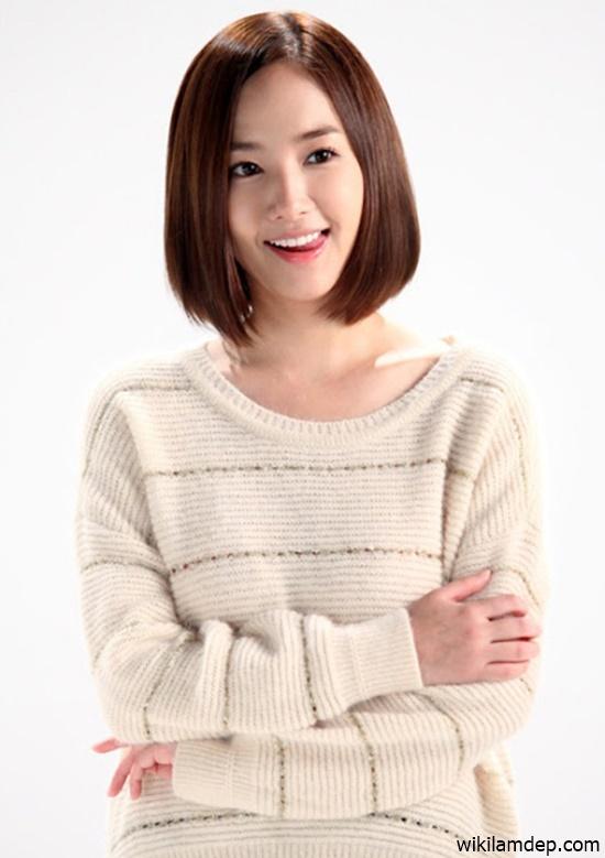 Tóc ngắn duỗi cúp phồng đẹp 2016 kiểu Hàn Quốc cho nàng trẻ trung phần 6