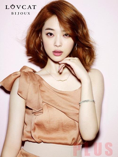 Tóc ngắn xoăn nhẹ đẹp bồng bềnh 2016 của ca sĩ Sulli Hàn Quốc phần 8