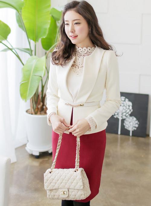 12 kiểu áo sơ mi nữ đẹp Hàn Quốc giúp cô nàng công sở trở nên sang trọng quý phái phần 10