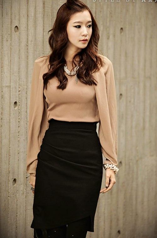 12 kiểu áo sơ mi nữ đẹp Hàn Quốc giúp cô nàng công sở trở nên sang trọng quý phái phần 12
