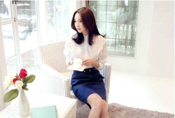 12 kiểu áo sơ mi nữ đẹp Hàn Quốc giúp cô nàng công sở trở nên sang trọng quý phái phần 5