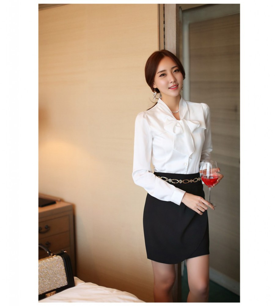 12 kiểu áo sơ mi nữ đẹp Hàn Quốc giúp cô nàng công sở trở nên sang trọng quý phái phần 6