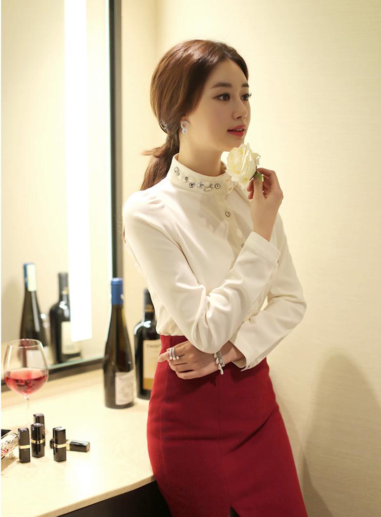 12 kiểu áo sơ mi nữ đẹp Hàn Quốc giúp cô nàng công sở trở nên sang trọng quý phái phần 8