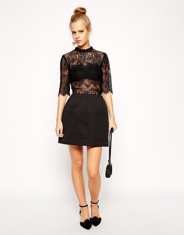 Những kiểu váy ren đẹp hot nhất hiện nay cho quý cô sang trọng đi dự tiệc phần 12