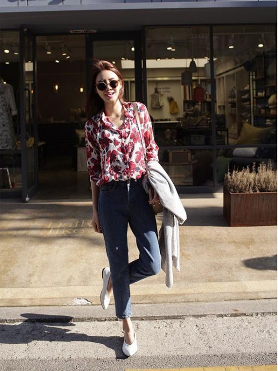 Áo sơ mi nữ công sở đẹp Hàn Quốc cho bạn gái hơi gầy vai ngang hè 2017 phần 4