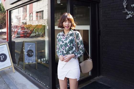 Áo sơ mi nữ công sở đẹp Hàn Quốc cho bạn gái hơi gầy vai ngang hè 2017 phần 5