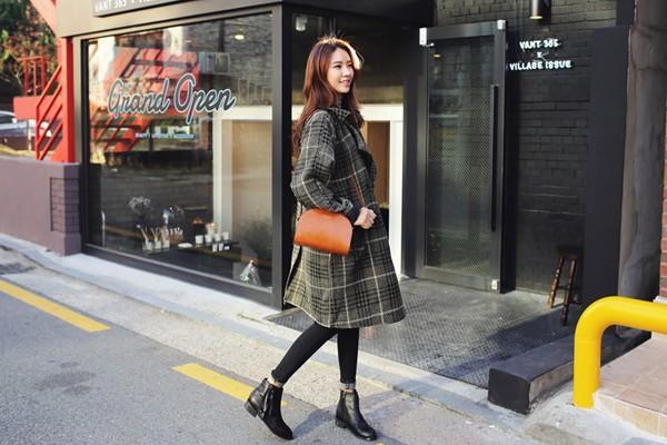 Áo khoác nữ dáng dài đẹp đông 2016 - 2017 cho nàng xinh như sao Hàn phần 10
