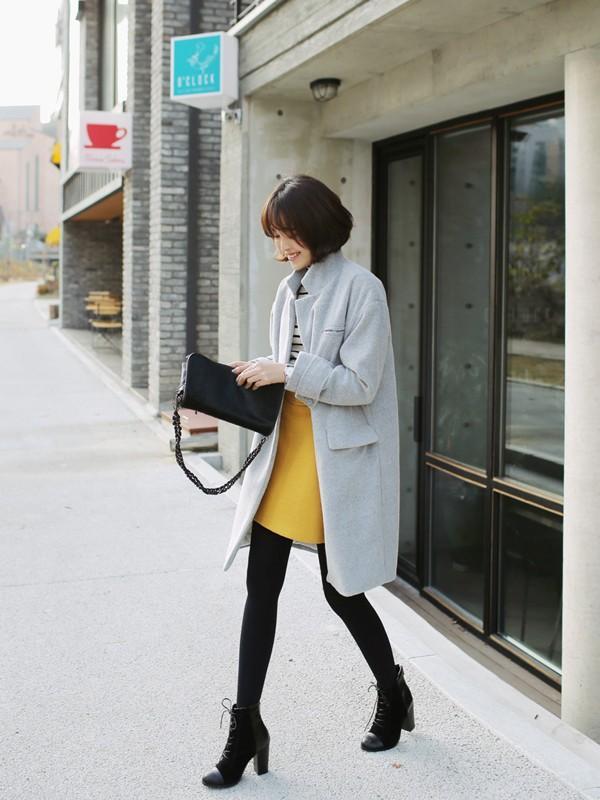 Áo khoác nữ dáng dài đẹp đông 2016 - 2017 cho nàng xinh như sao Hàn phần 5