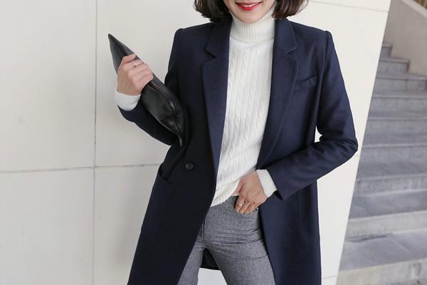 Áo khoác nữ dáng dài đẹp đông 2016 - 2017 cho nàng xinh như sao Hàn phần 8