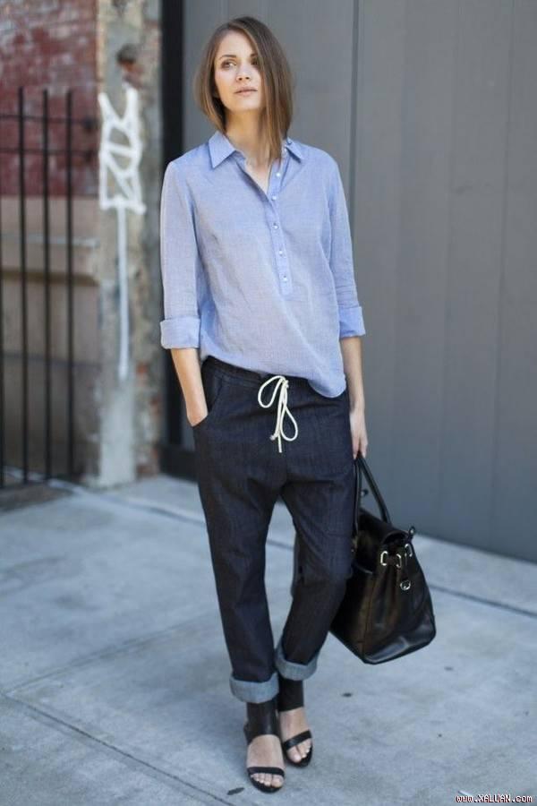 5 kiểu áo sơ mi nữ hàn quốc đẹp phong cách trẻ trung mát dịu ngày hè 2017 phần 1