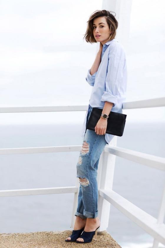 5 kiểu áo sơ mi nữ hàn quốc đẹp phong cách trẻ trung mát dịu ngày hè 2017 phần 17