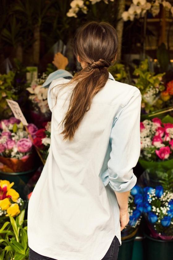 5 kiểu áo sơ mi nữ hàn quốc đẹp phong cách trẻ trung mát dịu ngày hè 2017 phần 8