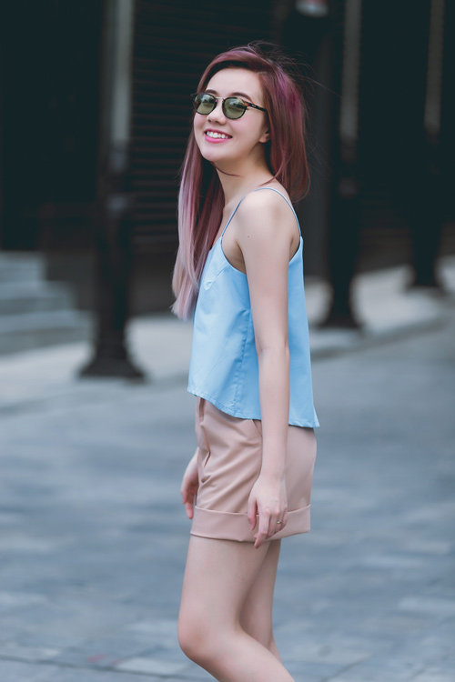 Áo thun dây nữ Hàn Quốc đẹp xuân hè 2017 cho nàng công sở dạo phố phần 5