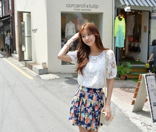 Áo sơ mi nữ phối ren Hàn Quốc đẹp cho nàng công sở nổi bật trong nắng hè5 phần 3