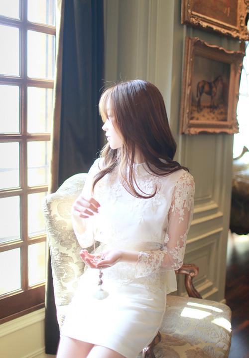 Áo sơ mi nữ phối ren Hàn Quốc đẹp cho nàng công sở nổi bật trong nắng hè phần 5