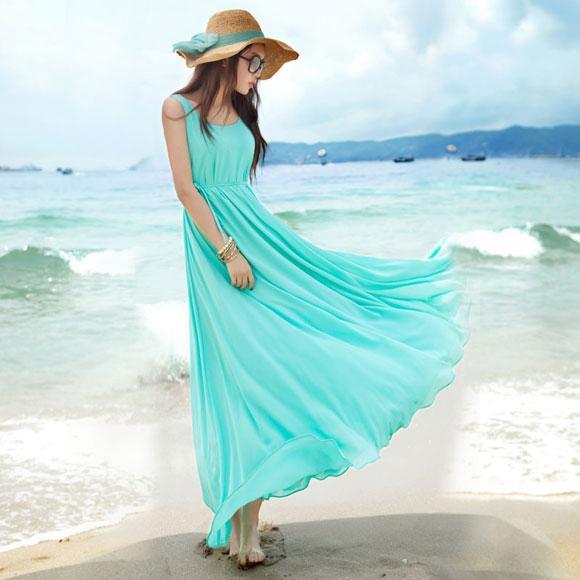 Váy maxi vải voan đẹp cho cô nàng điệu đà dạo biển đón nắng hè 2017 phần 10