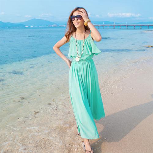 Váy maxi vải voan đẹp cho cô nàng điệu đà dạo biển đón nắng hè 2017 phần 11