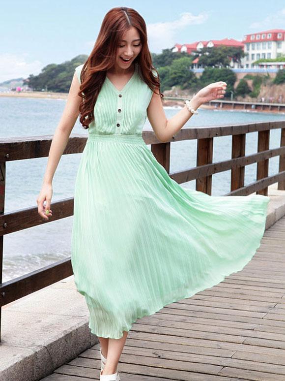 Váy maxi vải voan đẹp cho cô nàng điệu đà dạo biển đón nắng hè 2017 phần 12