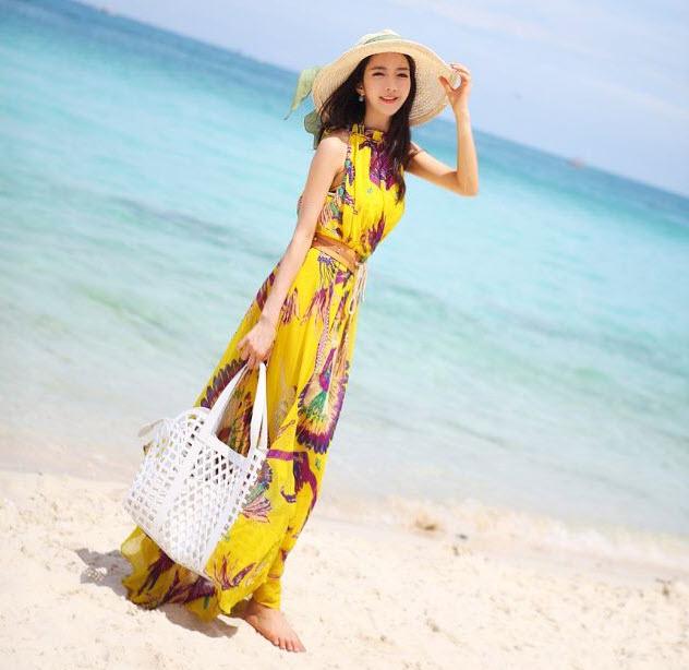 Váy maxi vải voan đẹp cho cô nàng điệu đà dạo biển đón nắng hè 2017 phần 18