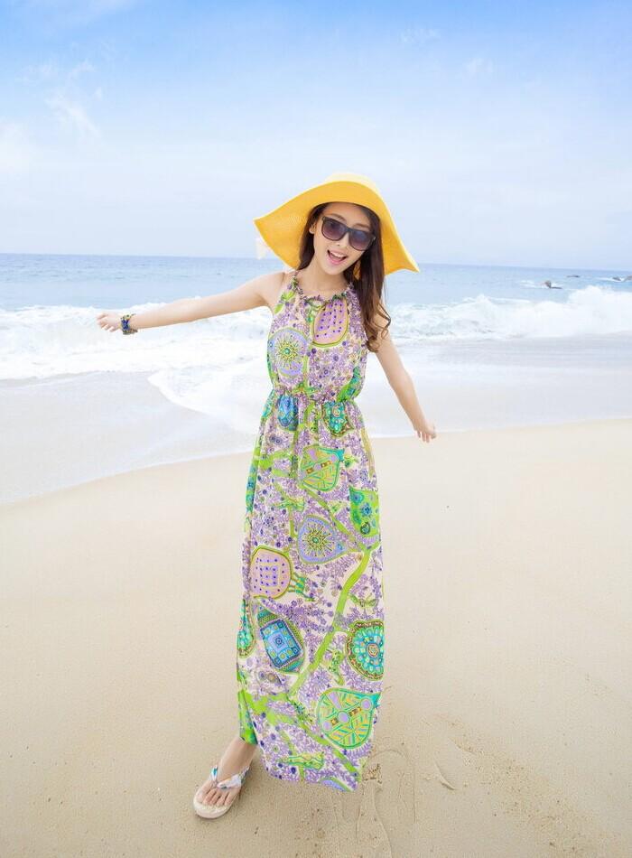 Váy maxi vải voan đẹp cho cô nàng điệu đà dạo biển đón nắng hè 2017 phần 19