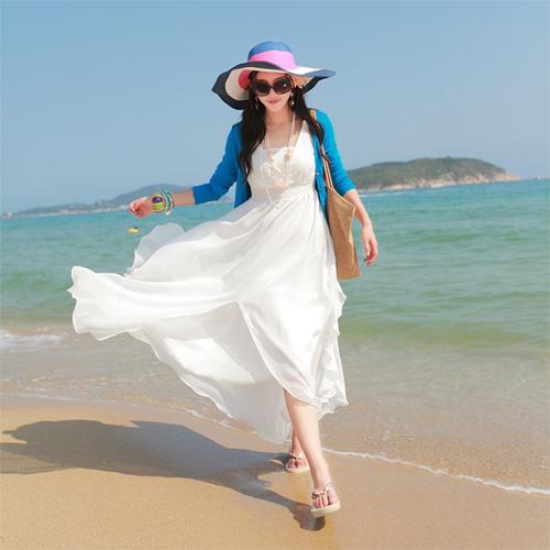 Váy maxi vải voan đẹp cho cô nàng điệu đà dạo biển đón nắng hè 2017 phần 5