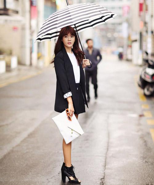 Áo sơ mi nữ trắng đẹp mix với chân váy đen cho nàng công sở hè 2017 phần 2