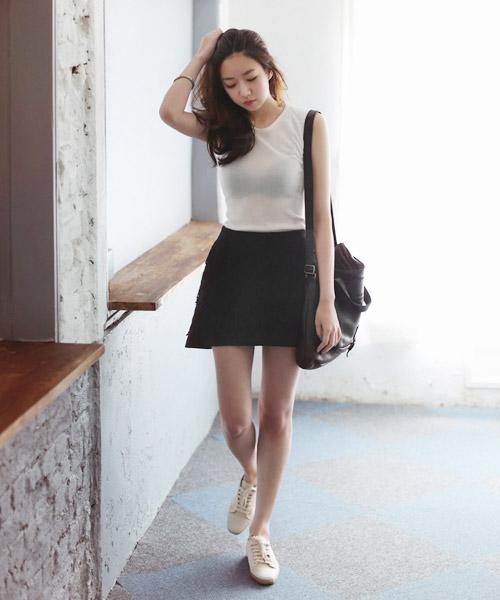 Áo sơ mi nữ trắng đẹp mix với chân váy đen cho nàng công sở hè 2017 phần 6