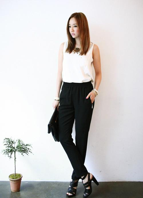 Áo sơ mi nữ trắng đẹp mix với chân váy đen cho nàng công sở hè 2017 phần 7