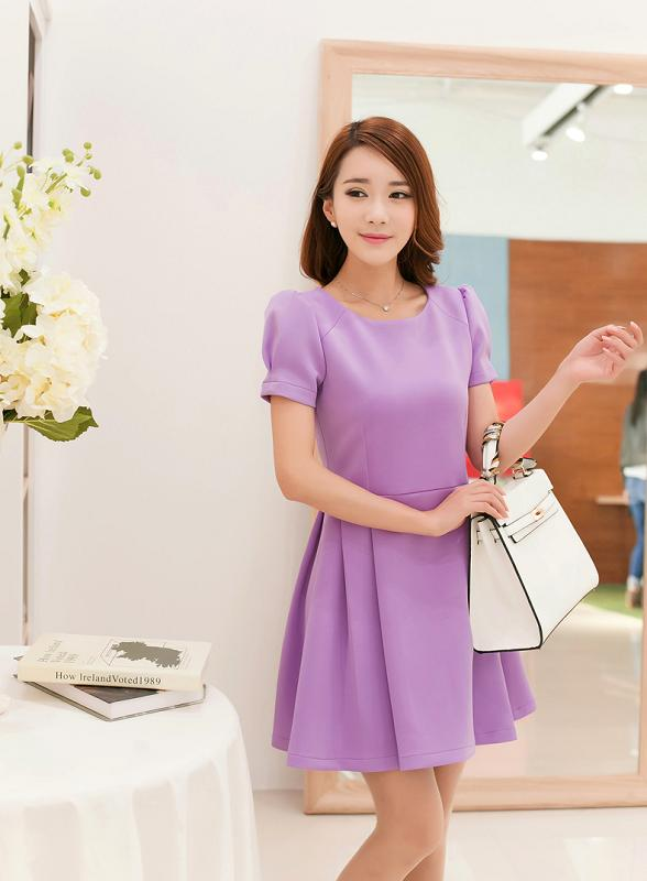 Đầm xòe đẹp Hàn Quốc hè 2015 phong cách trẻ trung cho bạn gái tung tăng dạo phố phần 11