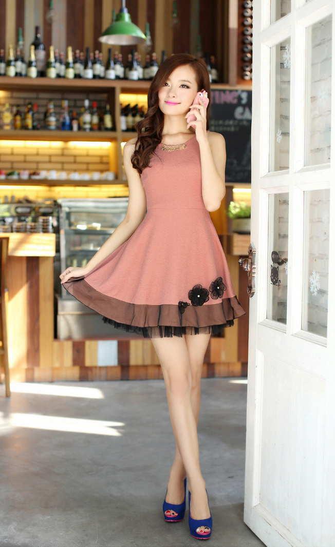 Đầm xòe đẹp Hàn Quốc hè 2015 phong cách trẻ trung cho bạn gái tung tăng dạo phố phần 14