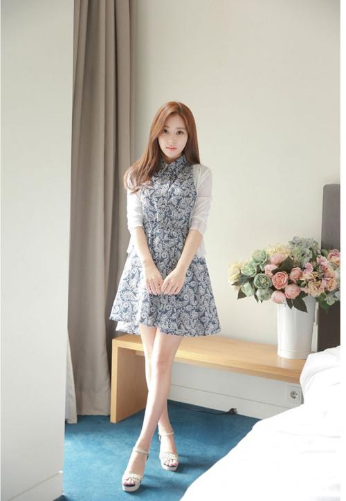 Đầm xòe đẹp Hàn Quốc hè 2015 phong cách trẻ trung cho bạn gái tung tăng dạo phố phần 3