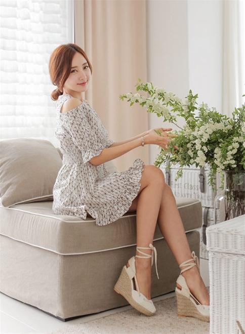 Đầm xòe đẹp Hàn Quốc hè 2015 phong cách trẻ trung cho bạn gái tung tăng dạo phố phần 6