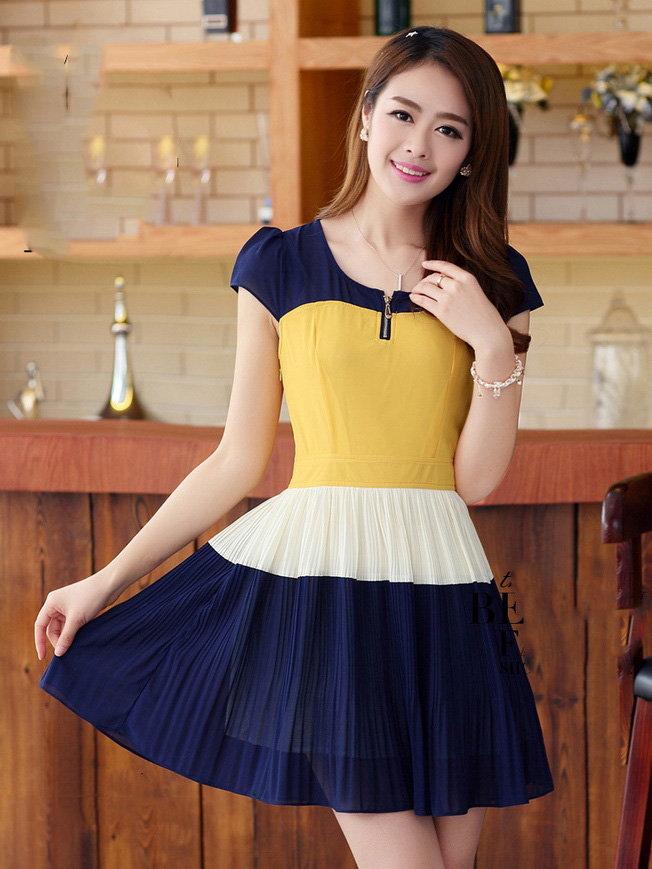 Đầm xòe đẹp Hàn Quốc hè 2015 phong cách trẻ trung cho bạn gái tung tăng dạo phố phần 7
