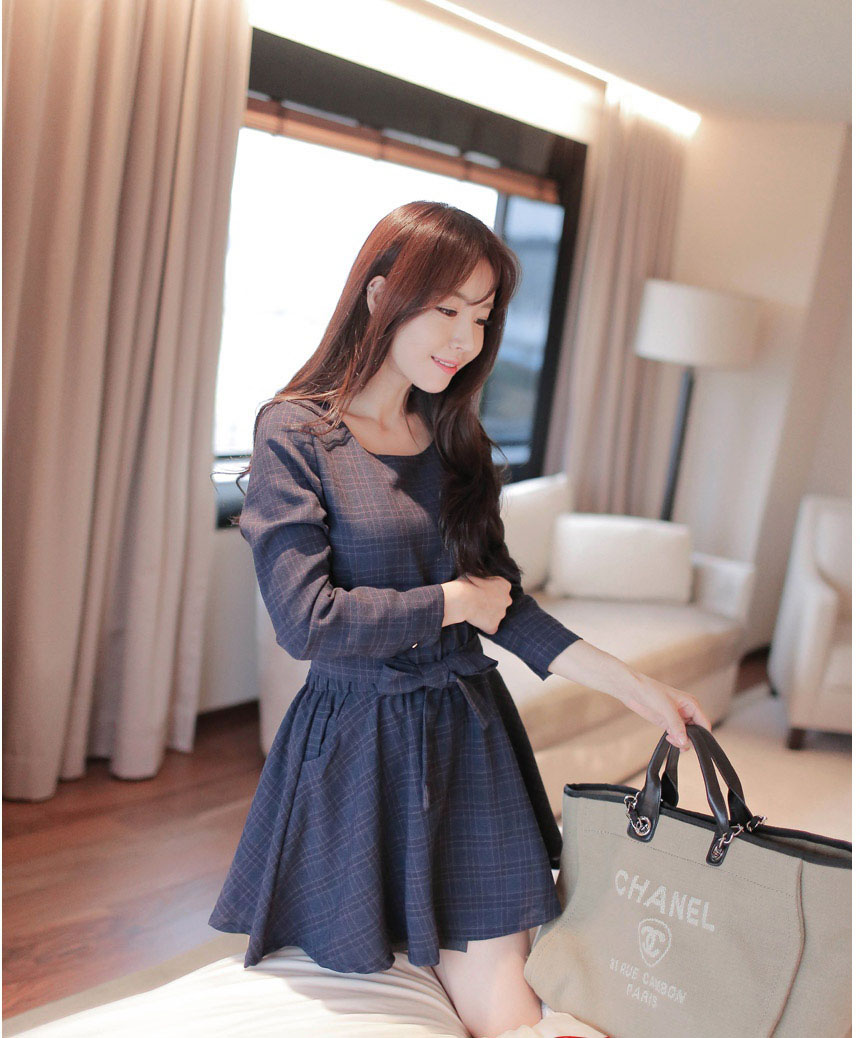 Đầm xòe đẹp Hàn Quốc hè 2015 phong cách trẻ trung cho bạn gái tung tăng dạo phố phần 8
